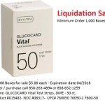 GLUCOCARD VITAL 50 BLOOD GLUCOSE TEST STRIPS for sale