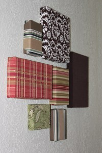 Easy wall art on the cheap with fabric scraps and ...