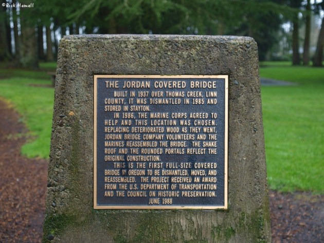 Jordan Covered Bridge, Stayton Oregon