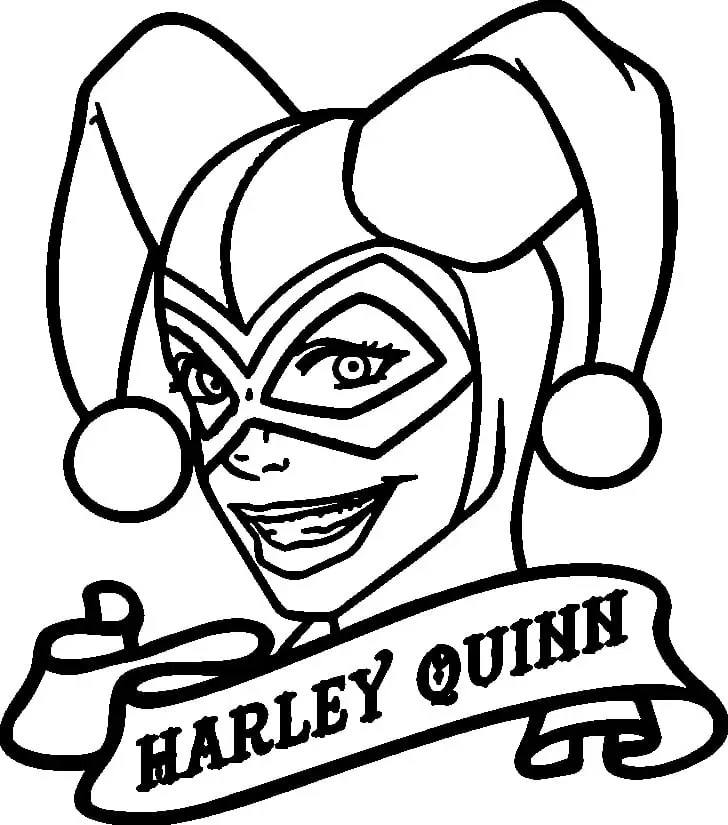 Harley Quinn Coloring Pages 1nza