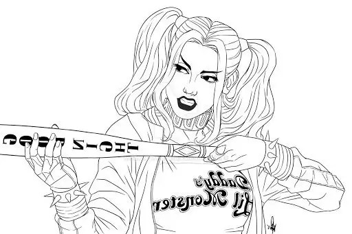 Harley Quinn Coloring Pages To Print Coloring Pages For Kids