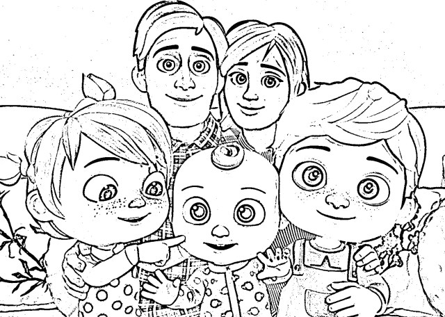 Cocomelon Coloring Pages - 19NZA
