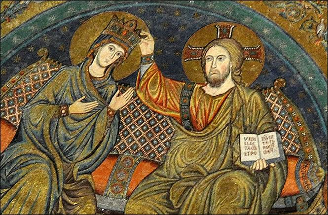 Détail du Couronnement de la Vierge