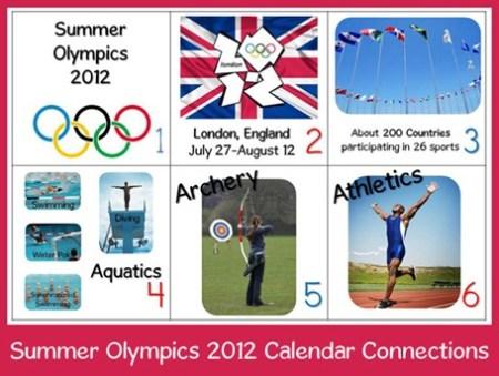Calendar Connections Olympics 2012