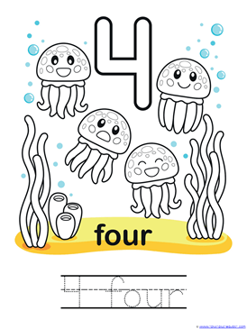 Ocean Animals Coloring Amp Counting 0 10 1111