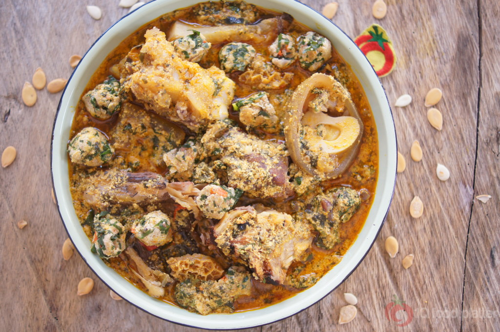 Egusi Soup with Egusi Uziza lumps  Top Nigerian Food Blog