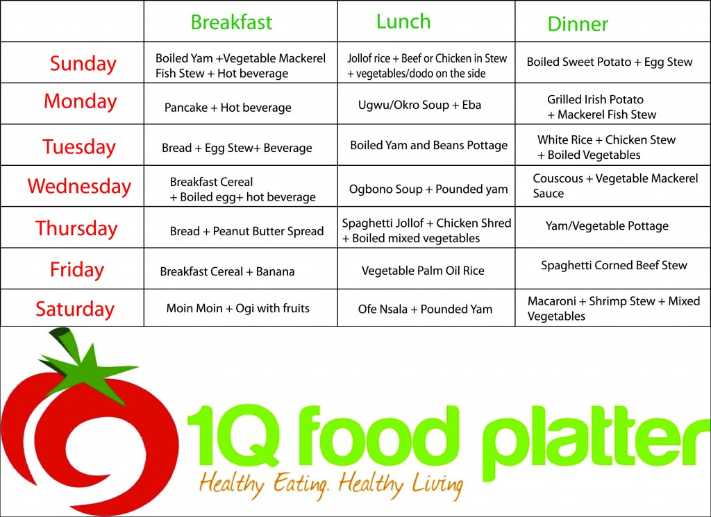 Healthy Food Timetable To Lose Weight
