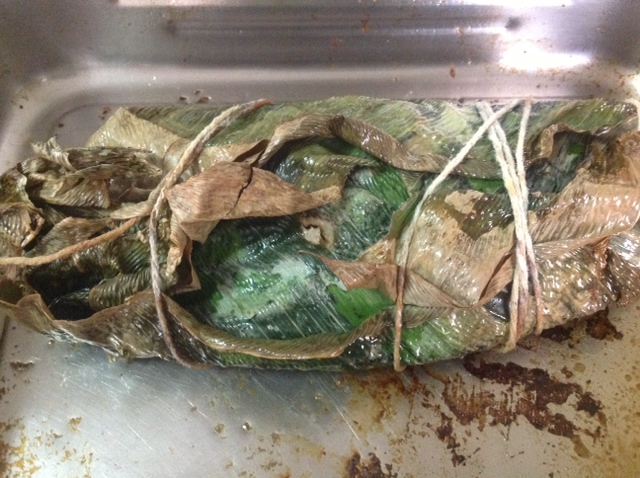how to wrap foil fish
