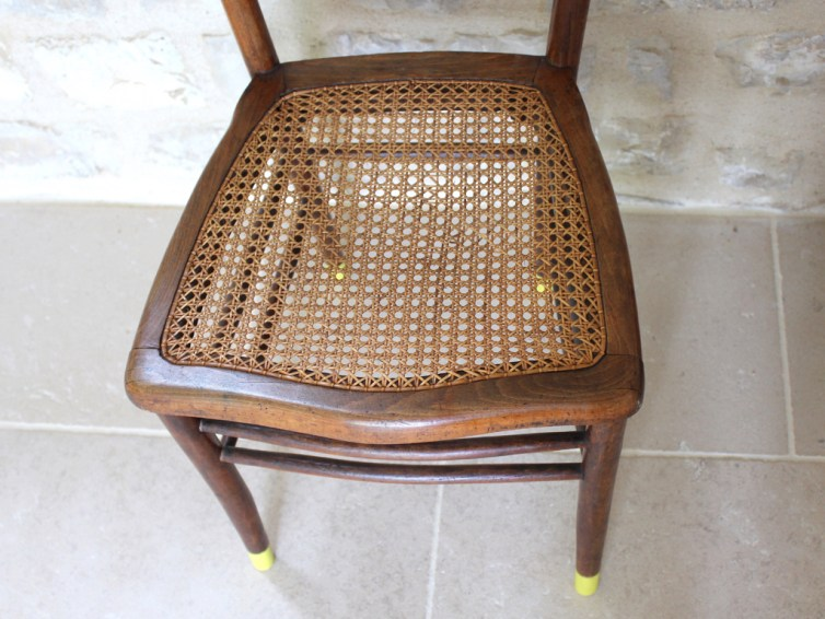 Chaise bistrot en cannage type Thonet