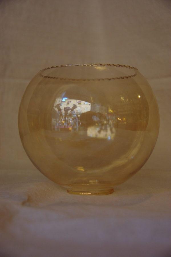 Vetro ricambio boccia bianco lucido d.16 foro 7,2 in vetro 12573. Coppia Di Bocce Ricambio Per Lampadari Ambra Liscio 1solo Com Pezzi Unici Per Definizione