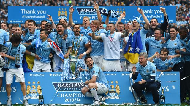Manchester City League Winning Seasons