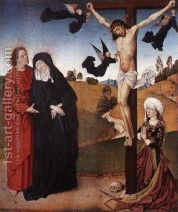 Christ on the Cross with Mary, John and Mary Magdalene 2 Painting by Master  of the... | 1st Art Gallery