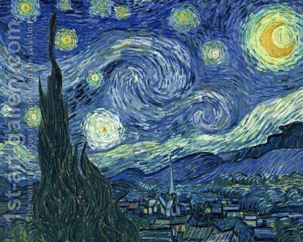 Lukisan Starry Night oleh Vincent Van Gogh