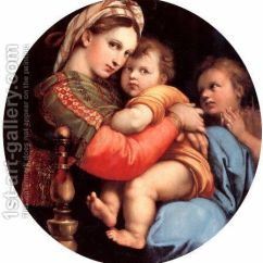 Madonna Of The Chair Acrylic Desk Ikea Painting By Raphael Reproduction 1st Art Oil