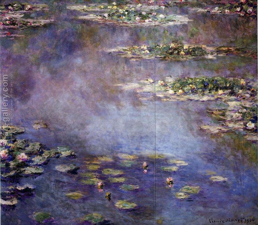 Water-lilies 2 Claude Oscar Monet Reproduction 1st Art