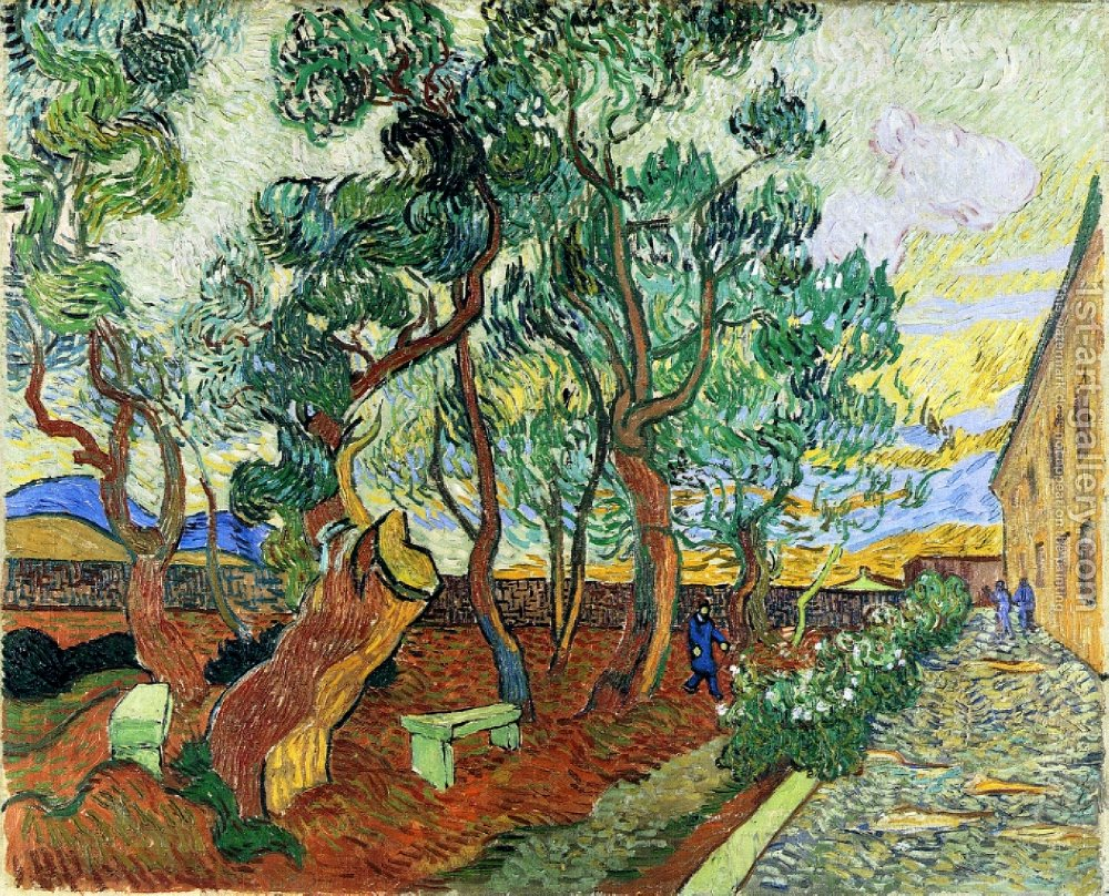 Garden Of Asylum In Saint-remy Vincent Van Gogh