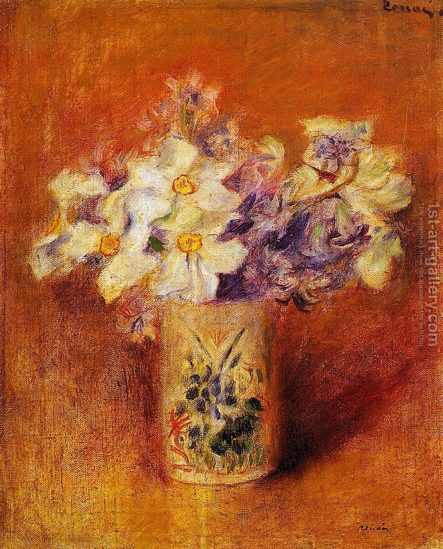 Flowers In Vase6 Pierre Auguste Renoir Reproduction