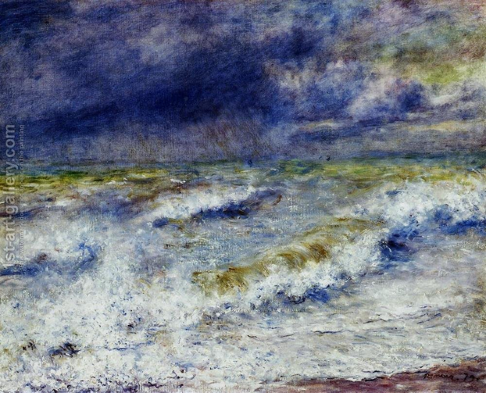 Seascape Painting Pierre Auguste Renoir Reproduction