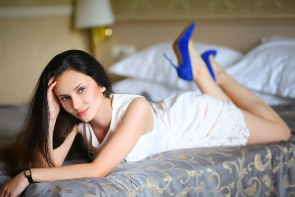 cheerful Ukrainian woman from city Kharkov Ukraine