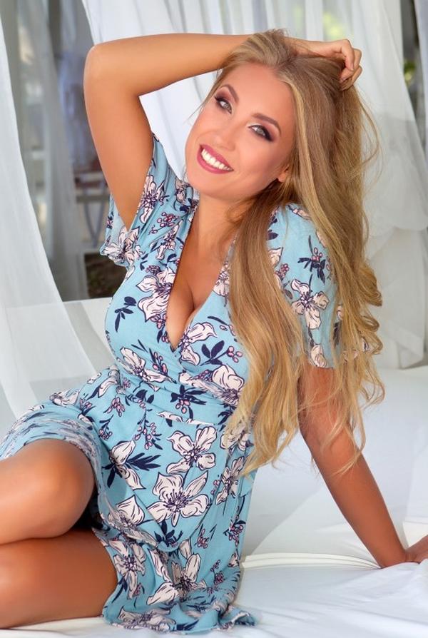 cheerful Ukrainian womanhood from city Odesa Ukraine