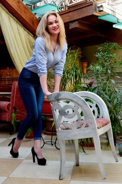 optimistic Ukrainian womankind from city Odessa Ukraine