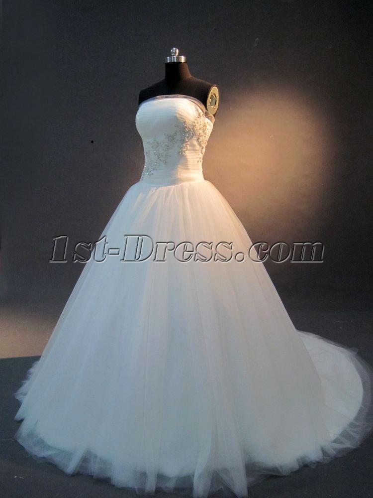 Strapless Beautiful Aline Princess Wedding Dress IMG_23051stdresscom