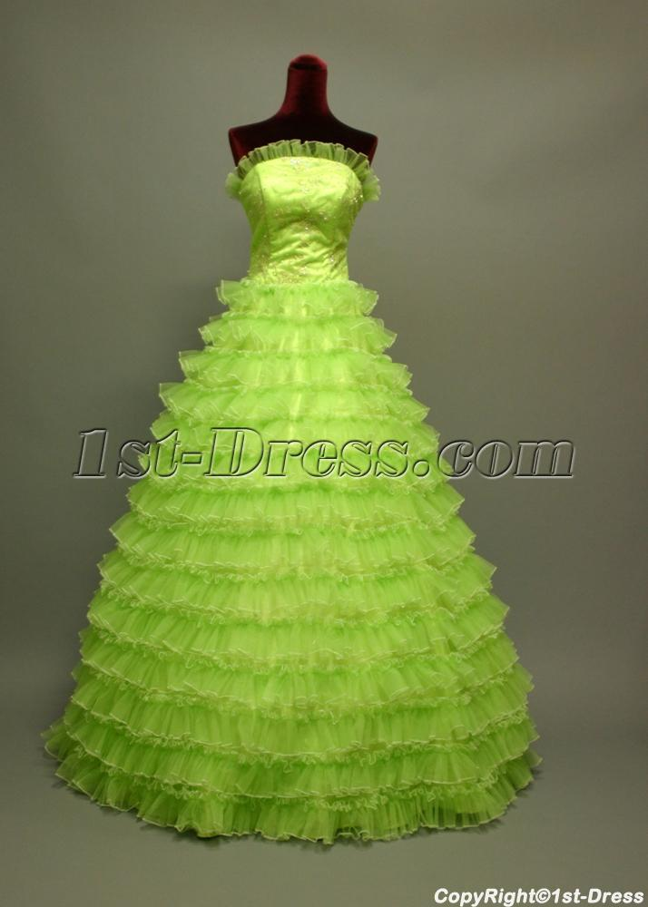 2011 Cute Puffy Green Quinceanera Dresses img_6739:1st