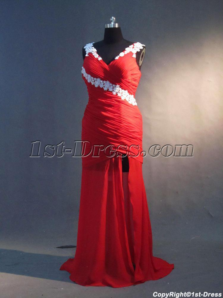 Red Sexy Graduation Dresses For College IMG3365 1st
