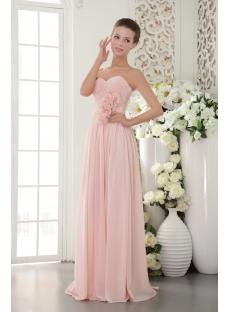 Beautiful Chiffon Pearl Pink Prom Gown 2012 IMG95181st