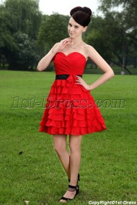 Pretty Short Red and Black Sweet 15 Dresses IMG_1068:1st ...