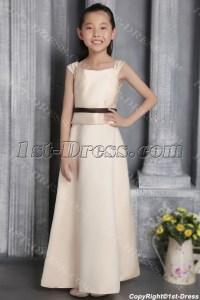 Champagne Bridesmaid Dresses Junior Girls 2676:1st-dress.com