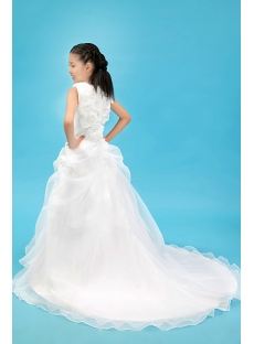 Romantic Mini Bridal Gowns For Flower Girl With Train1st