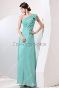 Exquisite Teal Blue 2014 Prom Dress One Shoulder:1st-dress.com