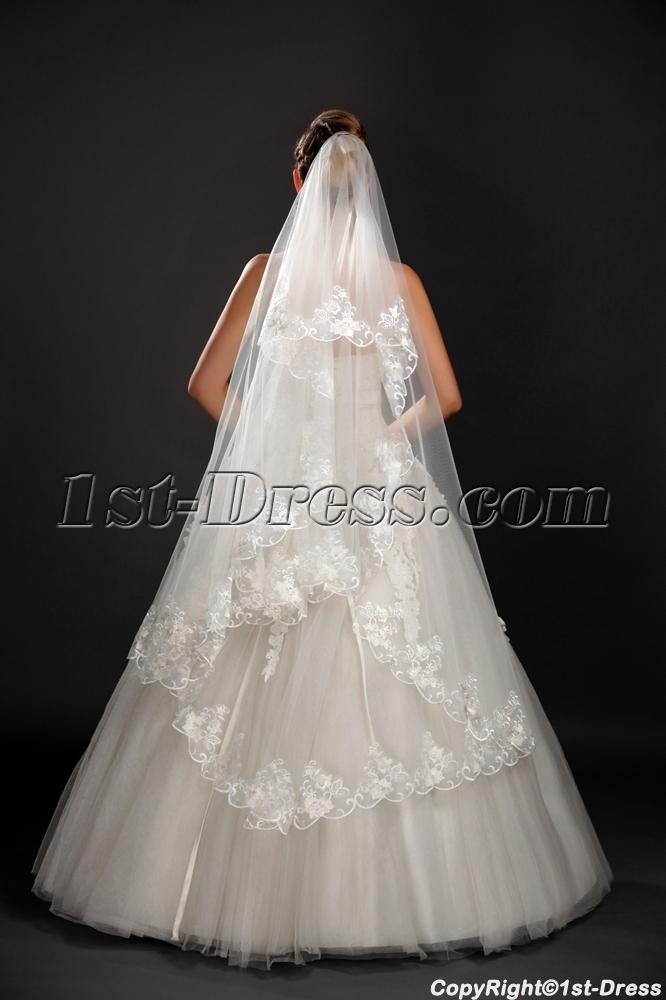Romantic Mid Length Lace Wedding Veils1st Dresscom