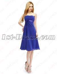 Elegant Royal Blue Short Prom Dresses Cheap:1st-dress.com