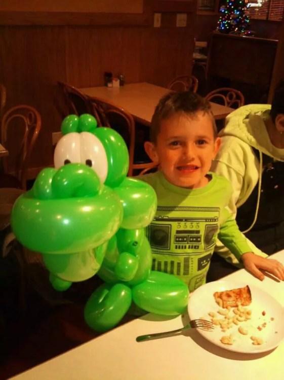 boy with dinosour