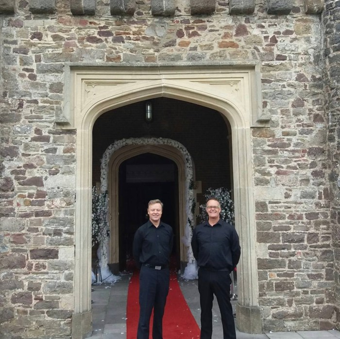Peter and Neil Helsol Castle nov17