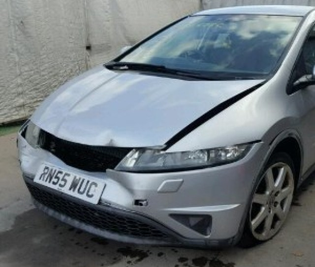 Honda Civic Silver Front Bumper With Grille