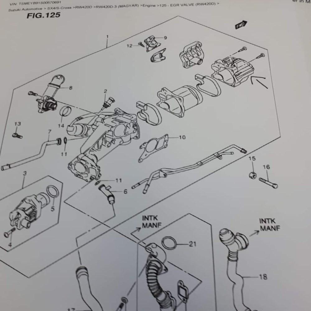 medium resolution of  suzuki sx4 egr valve cooler