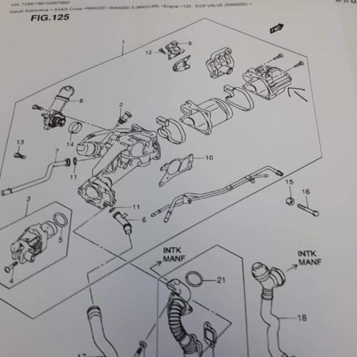 small resolution of  suzuki sx4 egr valve cooler