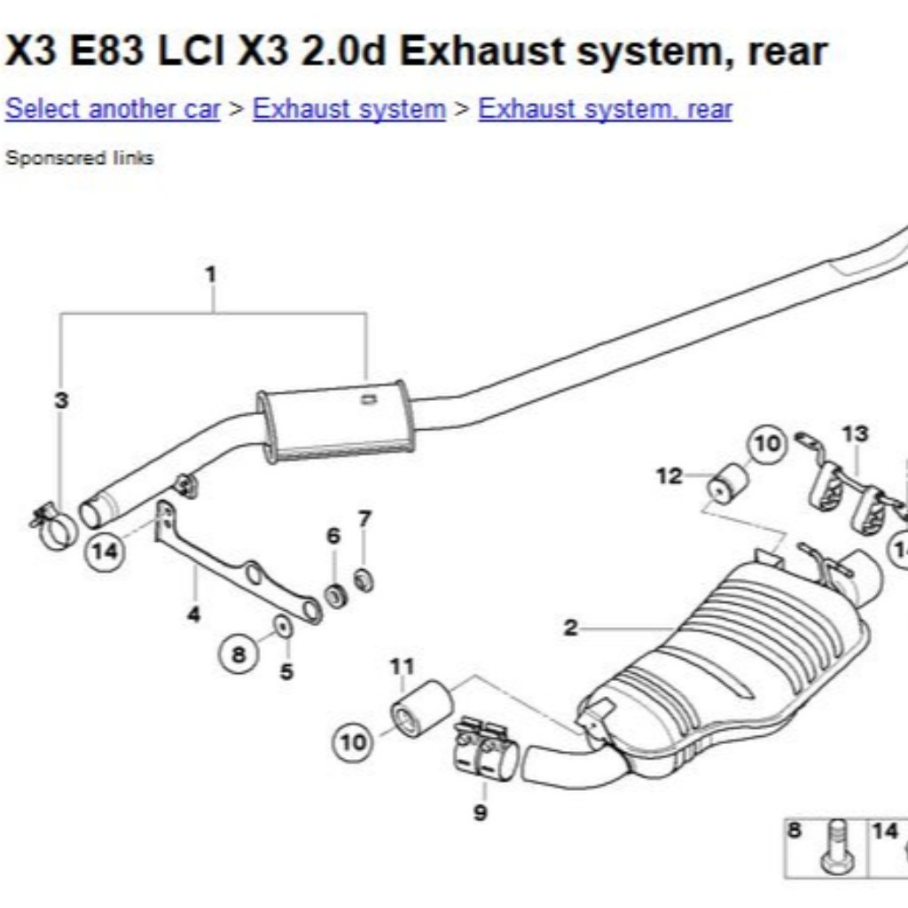 Find Used BMW exhaust manifold and exhaust system parts