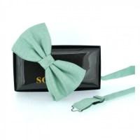 Mint Plain Bow Tie
