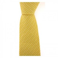 Gold And White Waves Tie