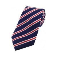 Red White And Blue Thin Stripe Tie