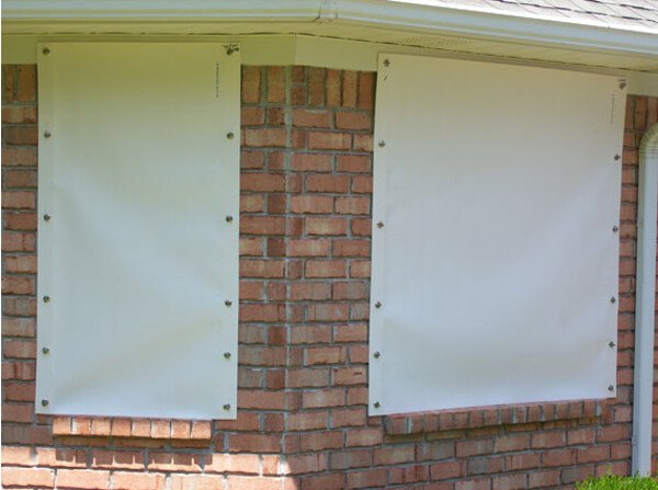 Hurricane Fabric Shield Pictures  1st Choice Home Improvements