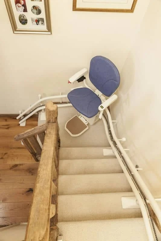 seat lift chair indoor cushions canada curved stair | the platinum curve from 1st choice stairlifts