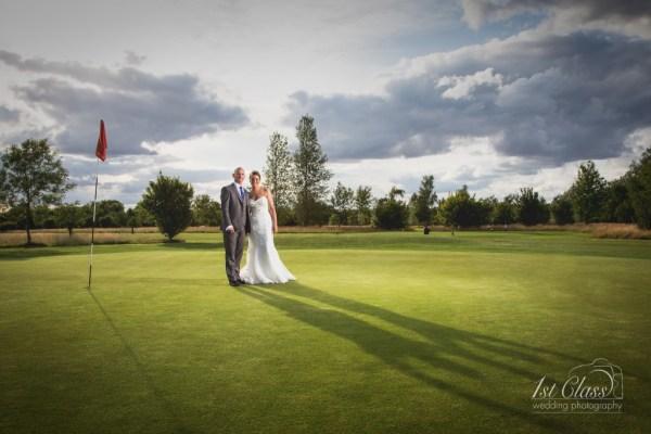 Emma and Tim Wedding at Silverstone Golf Club.