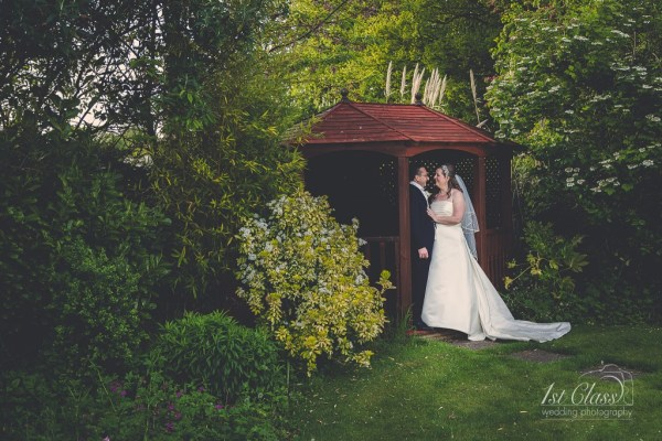 Hannah and Kevin at Letchworth Hall Hotel