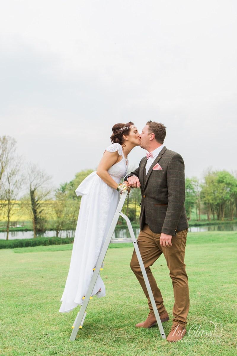 Vikki and David - Furtho Manor Farm wedding.