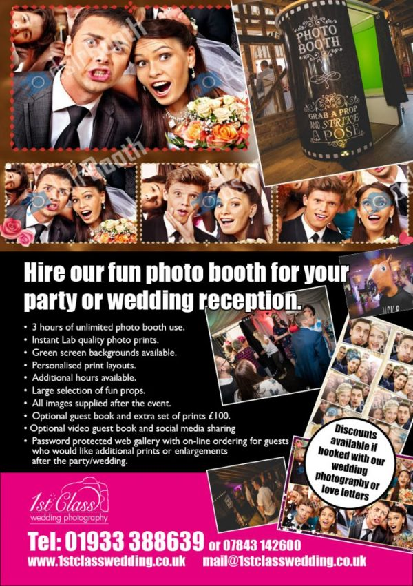 Photo Booth Selfie Booth Hire Northamptonshire